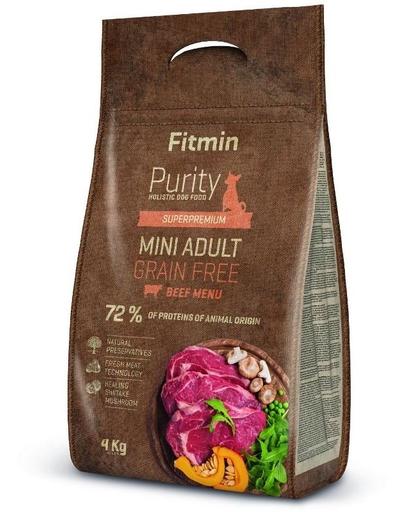FITMIN Dog Purity Grain free adult mini beef 4 kg