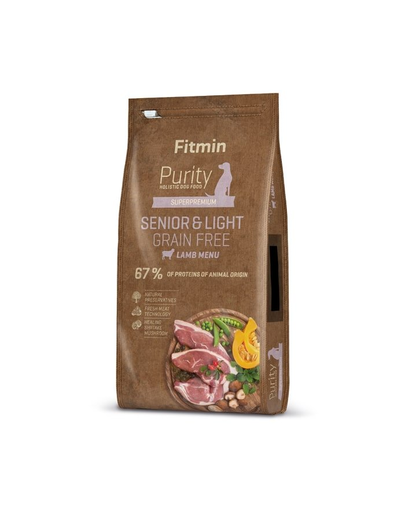 FITMIN Dog Purity Grain free senior & light lamb 12 kg