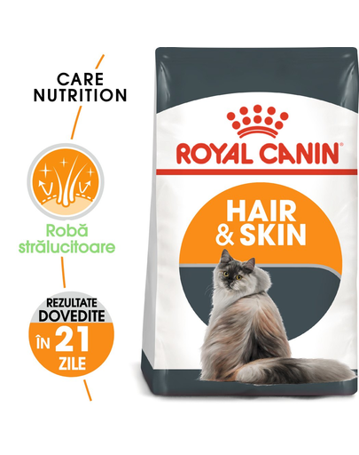 Royal Canin Hair&Skin Care Adult hrana uscata pisica pentru piele si blana, 400 g fera.ro