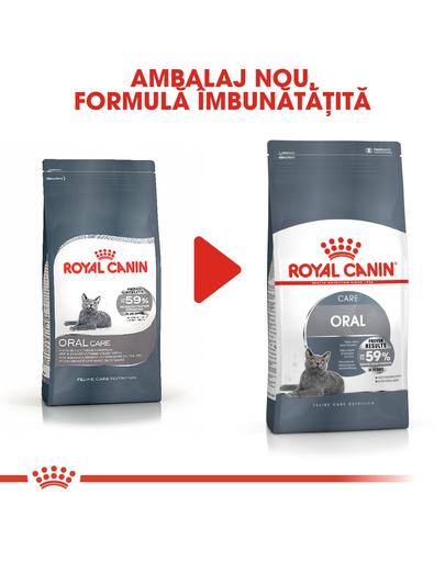 Royal Canin Oral Care Adult hrana uscata pisica pentru reducerea formarii tartrului, 400 g