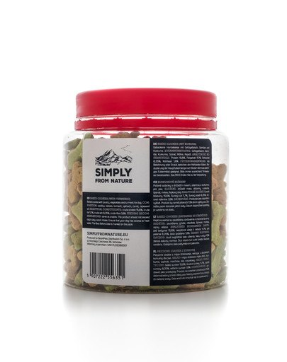 SIMPLY FROM NATURE Baked Cookies cu turmeric 250 g