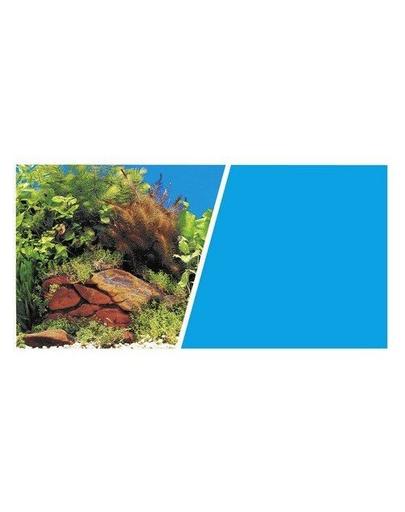 HAGEN Fundal cu două fețe pentru acvariu plante și pietre / albastru 45cmx7.5m