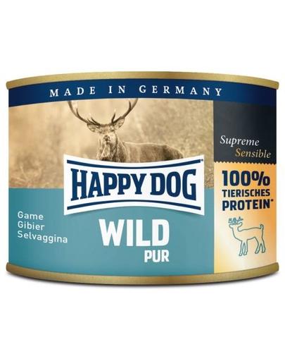 HAPPY DOG Wild Pur hrană umedă cu vânat 200 gr fera.ro