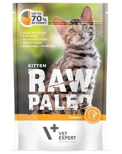 VETEXPERT RAW PALEO Kitten cu carne de curcan 100 g fera.ro