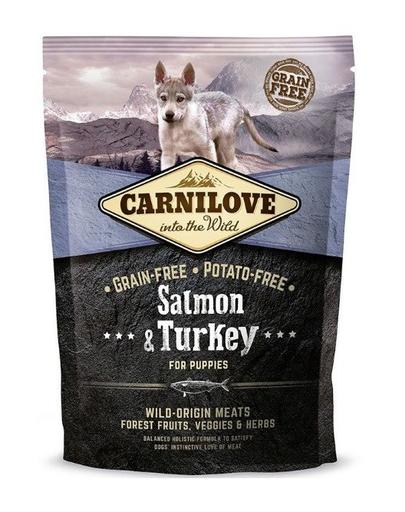 CARNILOVE Puppy somon și curcan 1,5 kg