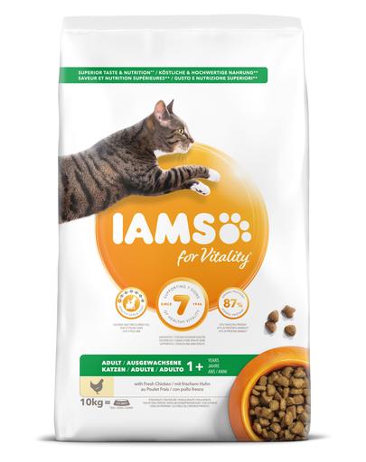 IAMS for Vitality pentru pisici adulte, cu pui 10 kg