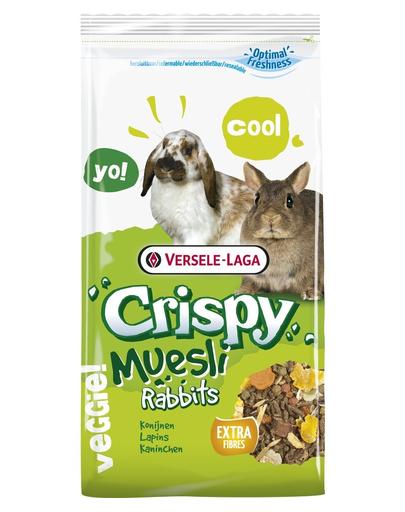 VERSELE-LAGA Crispy Muesli Rabbits mix alimente pentru iepuri miniaturali 400 g fera.ro