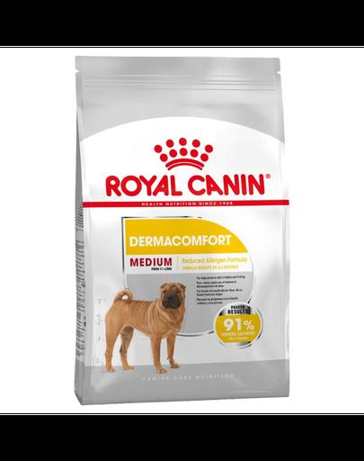 Royal Canin Medium Dermacomfort hrana uscata caine pentru prevenirea iritatiilor pielii, 3 kg