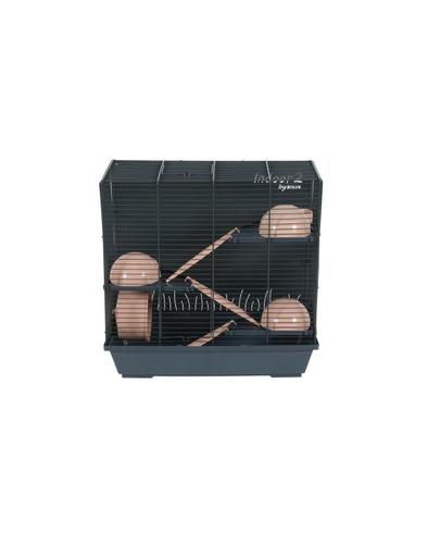 ZOLUX Cușcă INDOOR2 50 Triplex pentru hamster - albastru/roz deschis fera.ro