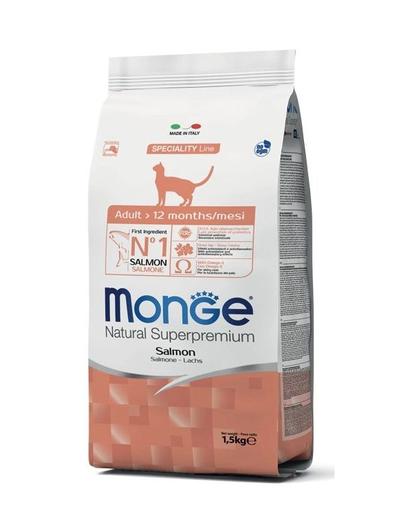 MONGE Cat Adult hrană uscată pentru pisici adulte, cu somon 400 g fera.ro