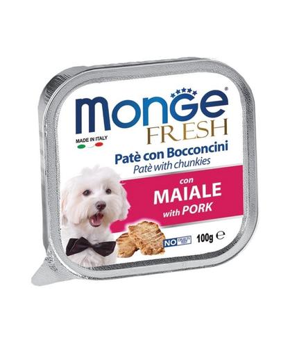 MONGE Fresh hrană umedă pentru câini sub formă de pate, cu porc 100 g fera.ro