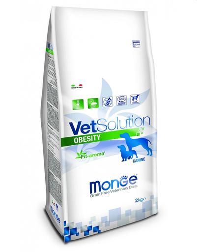 MONGE Vet Solution Dog Obesity hrană uscată dietetică pentru câini cu diabet 2 kg fera.ro