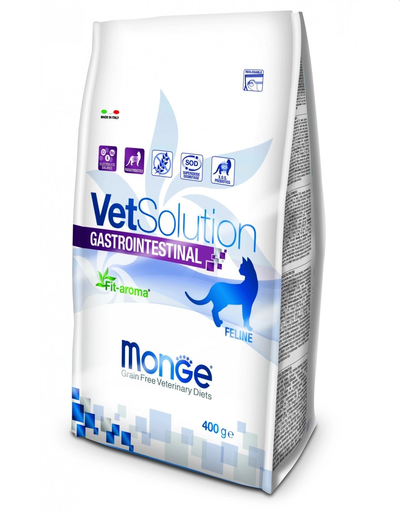 MONGE Vet Solution Cat Gastrointestinal hrană uscată dietetică pentru pisici cu probleme gastrointestinale 400g fera.ro