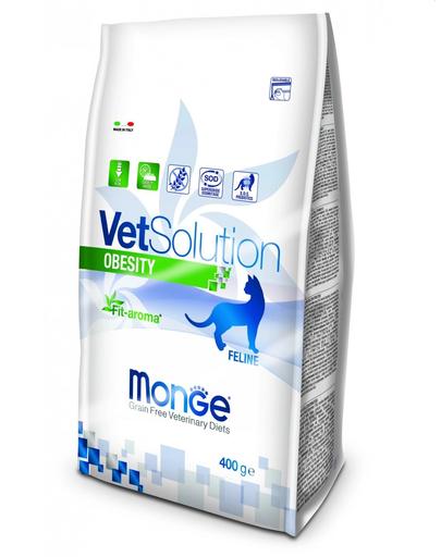 MONGE Vet Solution Obesity hrană uscată dietetică pentru pisici supraponderale 400g fera.ro