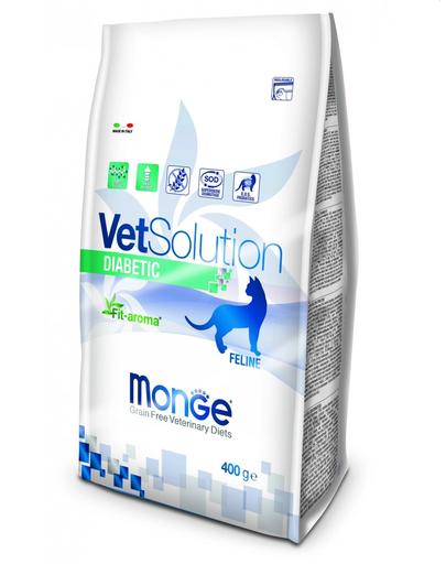 MONGE Vet Solution Cat Diabetic hrană uscată dietetică pentru pisici cu diabet 400g fera.ro