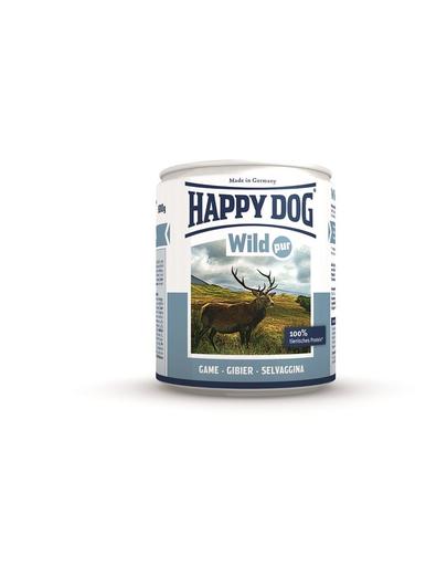 HAPPY DOG Wild Pur Hrana umeda pentru caini, 100% carne de vanat, 800 g fera.ro