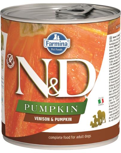 FARMINA N&D Pumpkin hrană umedă - căprioară și dovleac 285 g fera.ro