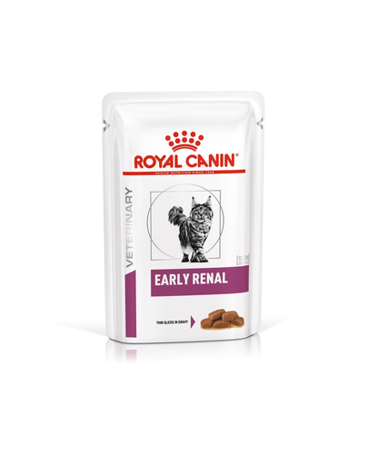 ROYAL CANIN Cat Early Renal hrană umedă pentru pisici cu afecțiuni renale 12 x 85 g fera.ro