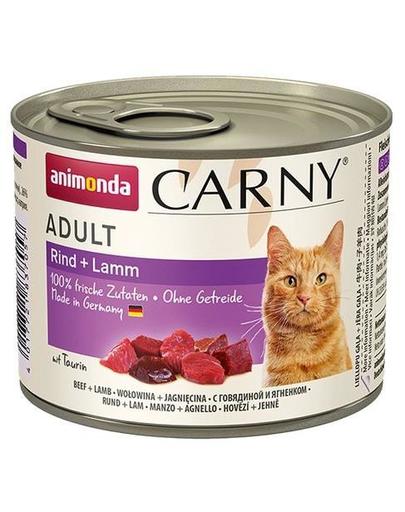 ANIMONDA Carny pentru pisici cu vită și miel 200 g fera.ro
