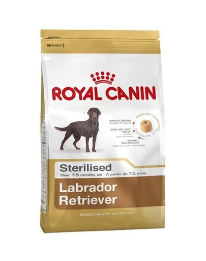 Royal Canin Labrador Adult Sterilised hrana uscata caini sterilizati din rasa Labrador Retriever 20 kg (2 x 12 kg)