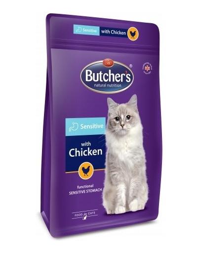 BUTCHER'S Functional Cat Sensitive hrana uscata pentru pisici, cu pui 800 g (2 + 1 GRATIS) fera.ro