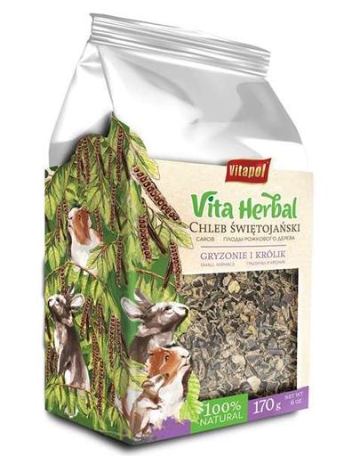 VITAPOL Vita Herbal, Carob pentru rozătoare și iepuri, 170 g fera.ro