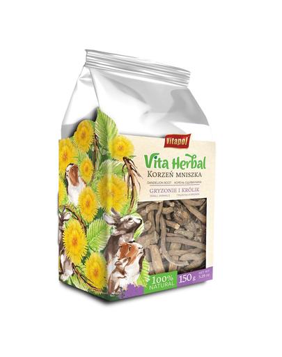 VITAPOL Vita Herbal, Hrana supliment pentru rozătoare și iepuri pe bază de plante, Rădăcină de păpădie,150 g fera.ro