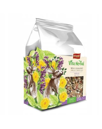 VITAPOL Vita Herbal, Amestec de ierburi pentru iepuri,150 g fera.ro