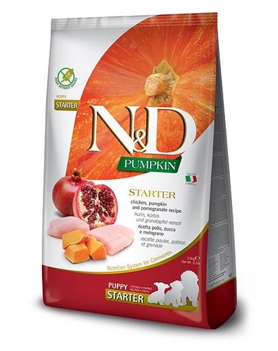 FARMINA N&D Pumpkin All Breeds - Hrană pentru pui de cățel - pentru toate rasele - pui și rodie - 2,5 kg fera.ro