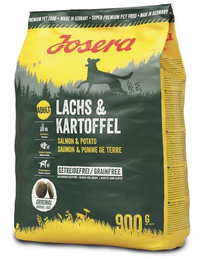 JOSERA Lachs & Kartoffel hrana fara cereale pentru caini adulti, cu somon si cartofi 5 x 900g (4+1 GRATIS) fera.ro