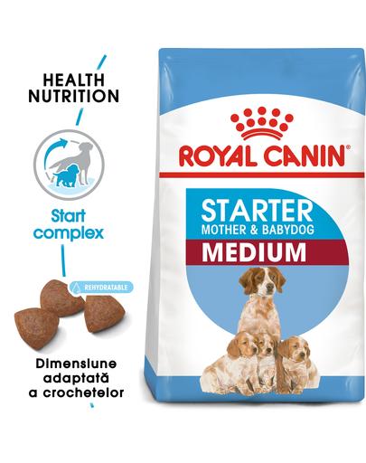 Royal Canin Medium Starter Mother & Babydog gestatie/ lactatie pui hrana uscata caine 24 kg (2 x 12 kg)
