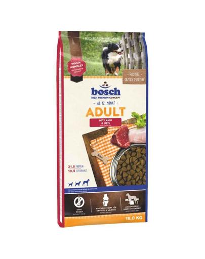 BOSCH Hrana uscata cu miel si orez pentru cainii adulti 15 kg+ Recompense cu turmeric pentru caini 250 g