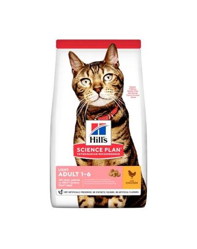 HILL'S Science Plan Feline Adult Light Chicken pentru pisici sterilizate, cu pui 20 kg (2 x 10 kg) fera.ro