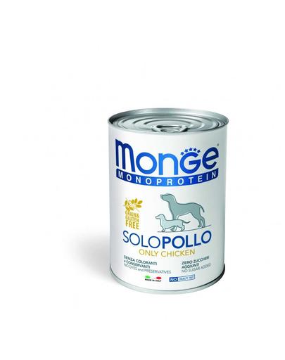 MONGE Monoprotein, hrana umeda pentru caini, Pui 400 g