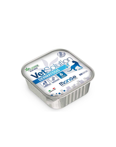 MONGE Vet Solution Cat Dermatos, hrana umeda pentru pisici cu cadere excesiva a parului, 100 g fera.ro