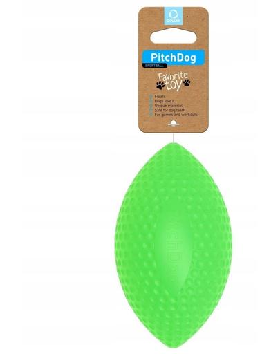 PULLER PitchDog, minge pentru caini, forma de Rugby, verde, 9 cm x 14 cm fera.ro