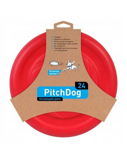 PULLER PitchDog Frisbee Disc zburator, roz, 24 cm fera.ro
