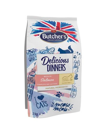 BUTCHER'S Delicious Dinners Cat hrana uscata pentru pisici, cu somon 6 x 2 kg (5+1 GRATIS) fera.ro