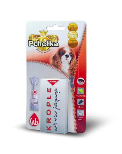 PCHEŁKA Bio Picaturi pentru protectia impotriva parazitilor, pentru caini de la 5 la 15 kg, 1.5 ml fera.ro