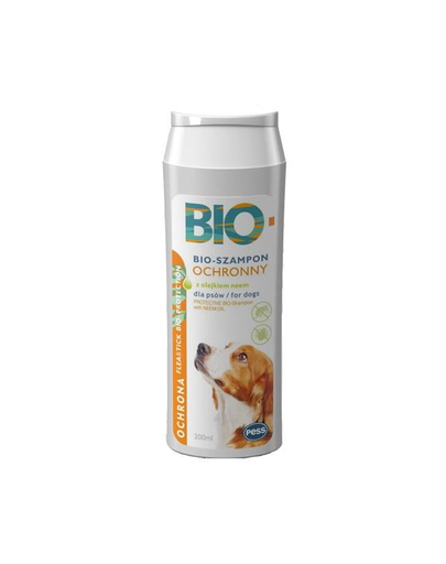 PESS Bio Sampon pentru caini anti-purici si capuse, cu ulei de neem 200 ml fera.ro