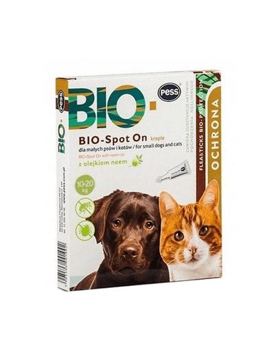 PESS BIO Spot-on picaturi protectie anti-capuse, purici pentru caini medii/marii 4x2.5 g cu ulei de neem fera.ro