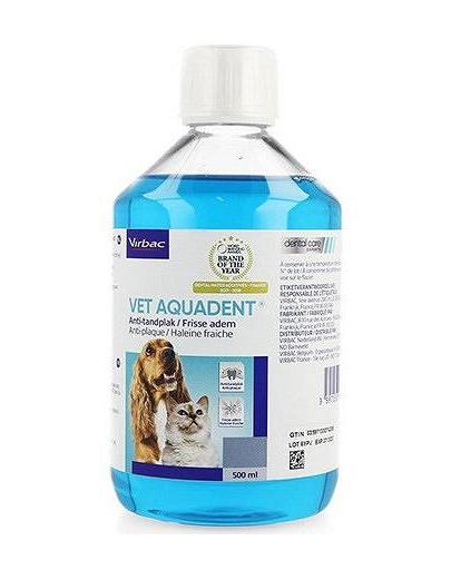 VIRBAC Aquadent solutie pentru igiena orala, pentru caini si pisici 250 ml fera.ro