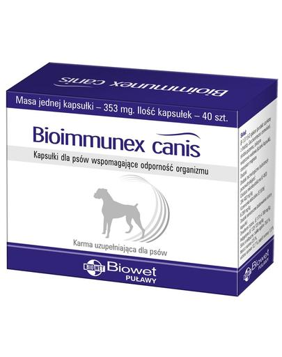 BIOWET Bioimmunex Canis capsule pentru caini care sustin imunitatea organismului 40 buc. fera.ro