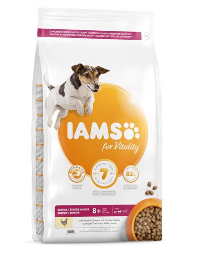 IAMS For Vitality Senior hrana uscata pentru caini seniori de talie mica si medie, cu pui, 5 kg fera.ro
