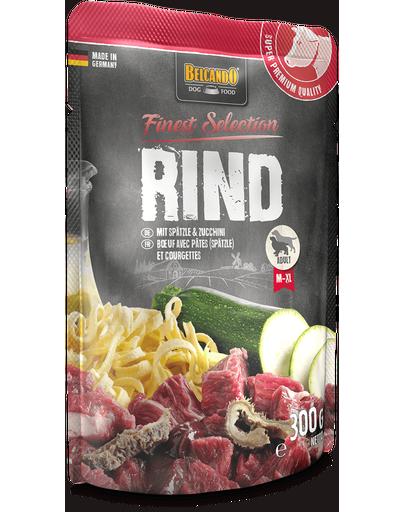 BELCANDO Finest Selection hrana umeda pentru caini, cu vita, taitei de casa si dovlecei, 300 g