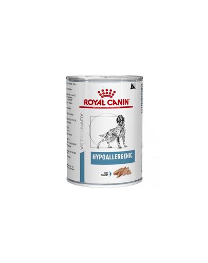 ROYAL CANIN Dog Hypoallergenic hrana umeda caini adulti cu reactii adverse la alimente 400 g