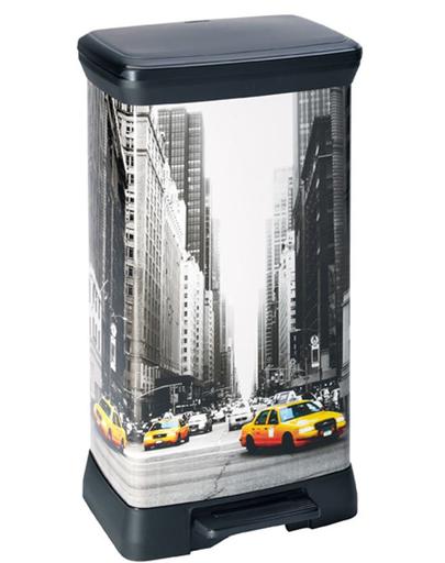 CURVER Cos de gunoi metalic cu pedala New York City 50 L fera.ro