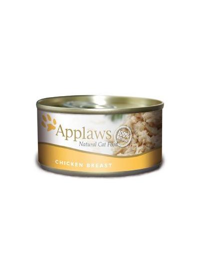 APPLAWS hrana umeda pentru pisici, cu piept de pui 70 g x 12 (10+2 GRATIS) fera.ro