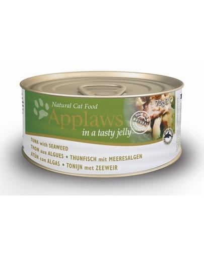 APPLAWS hrana umeda pentru pisici, ton si alge marine in jeleu 70 g x 12 (10+2 GRATIS) fera.ro