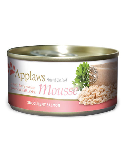 APPLAWS Cat Mousse hrana umeda pentru pisici, cu somon 70 g x 12 (10+2 GRATIS)